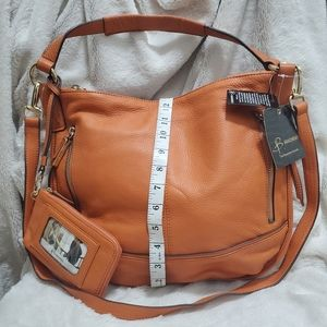B. MAKOWSKY *NWT* ORANGE LEATHER HOBO